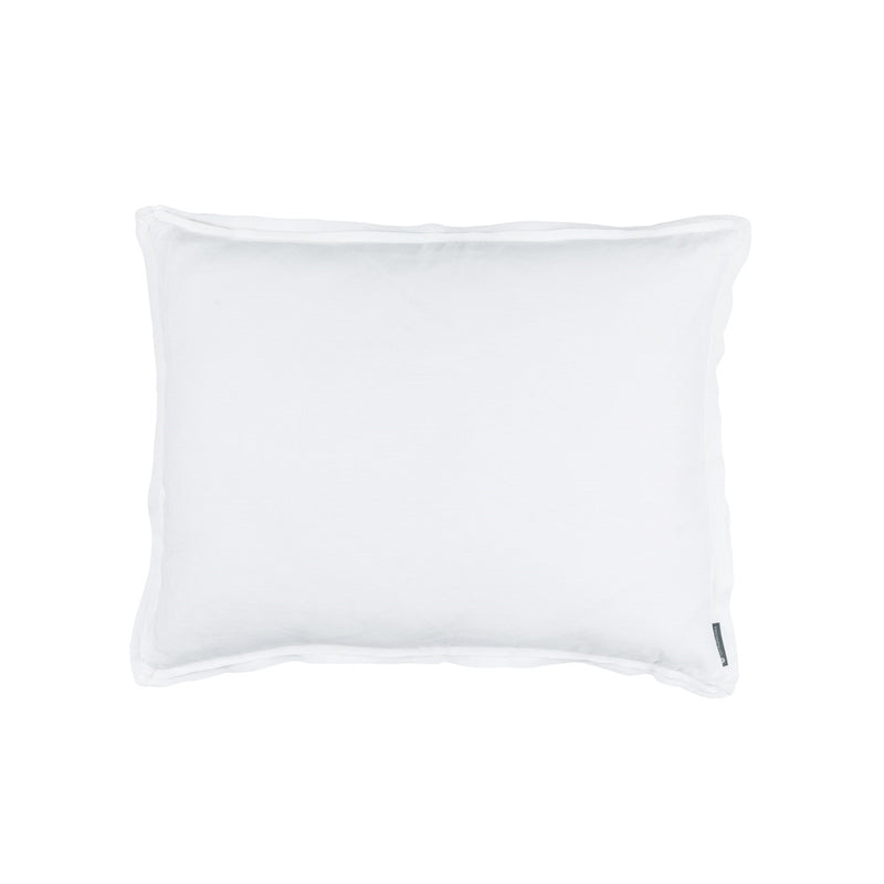 BLOOM STANDARD DOUBLE FLANGE PILLOW WHITE LINEN 20X26 (INSERT INCLUDED)