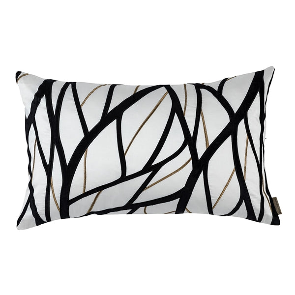 TWIG LG RECTANGLE PILLOW IVORY / GOLD / BLACK 18X30 (INSERT INCLUDED)