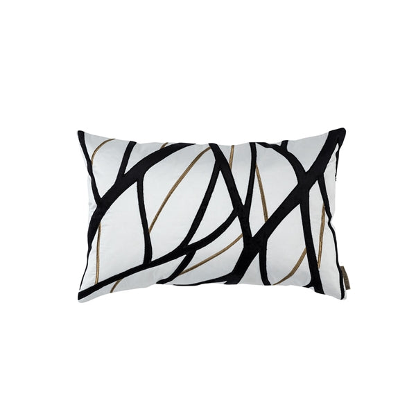 TWIG SM RECTANGLE PILLOW IVORY / GOLD / BLACK 14X22 (INSERT INCLUDED)