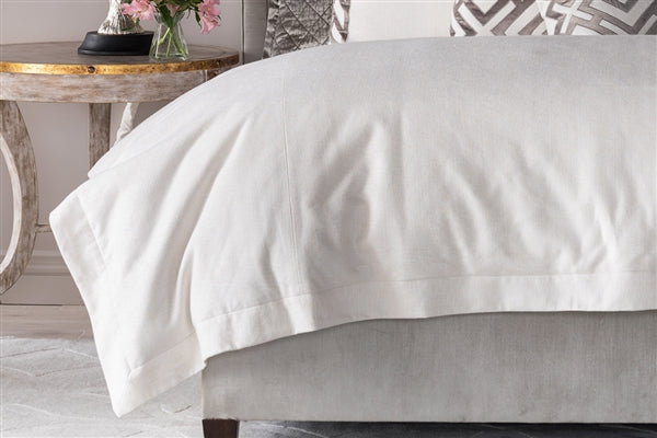 LAURIE KING DUVET IVORY BASKETWEAVE 112X98 (NO INSERT)