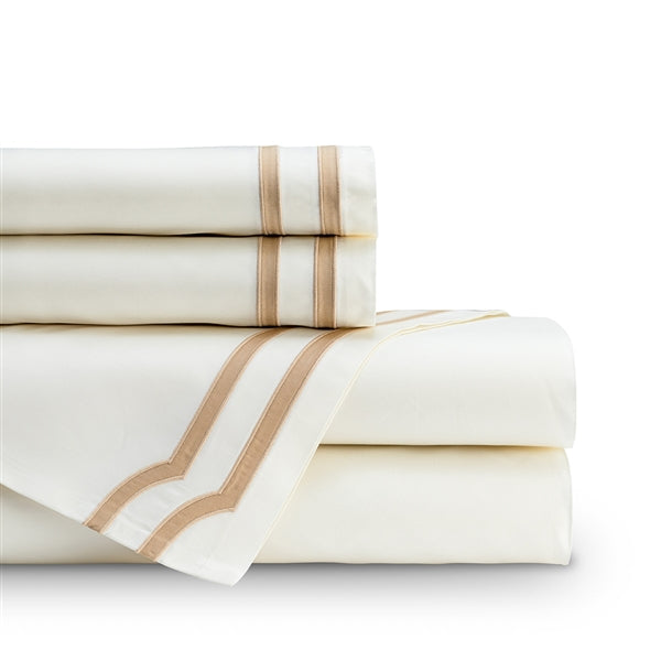 SOHO QUEEN 300TC SHEET SET IVORY / STRAW Q SET