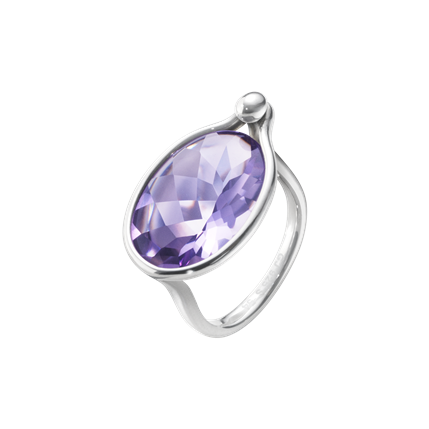 Georg Jensen - SAVANNAH RING - STERLING SILVER WITH AMETHYST