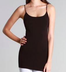 ELIETIAN  Short Basic Cami-CHOCOLATE