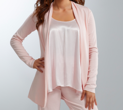 PJ HARLOW - Amelia Knit Cardigan Wrap in Blush