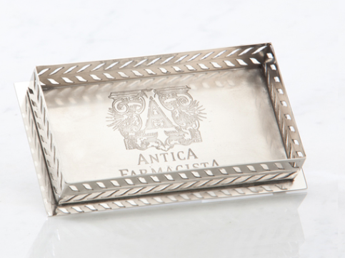 ANTICA FARMACISTA - Bath and Body Counter Tray - Silver/Nickel Plated Brass