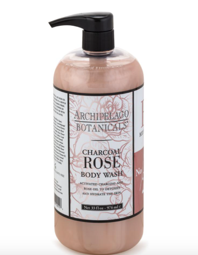 ARCHIPELAGO - 33OZ. CHARCOAL ROSE BODY WASH