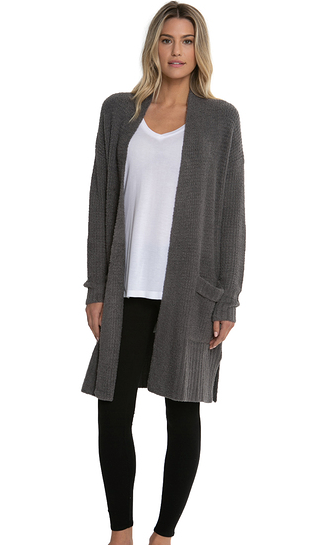 a56d03d041d8 Barefoot Dreams Cozychic Lite Long Weekend Cardigan in Ash – For Alma