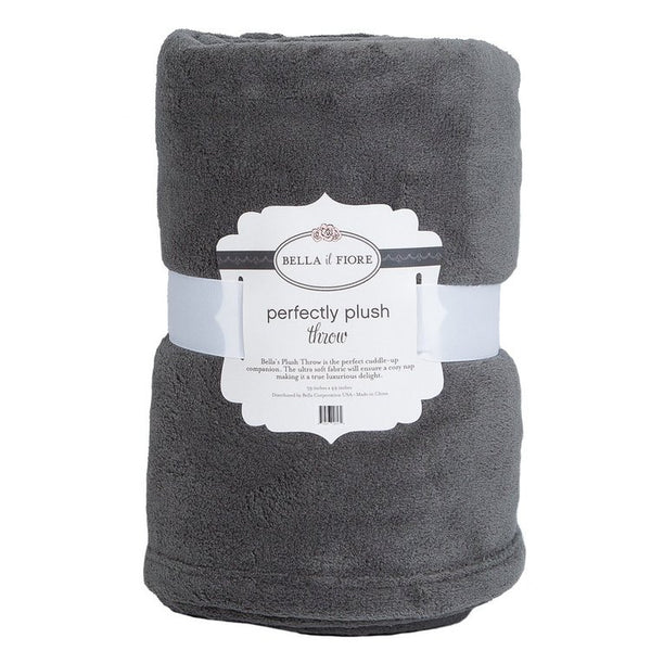 Bella il Fiore - Gray Throw Blanket