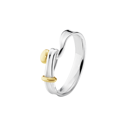 GEORG JENSEN - TORUN RING - STERLING SILVER AND 18 KT. YELLOW GOLD