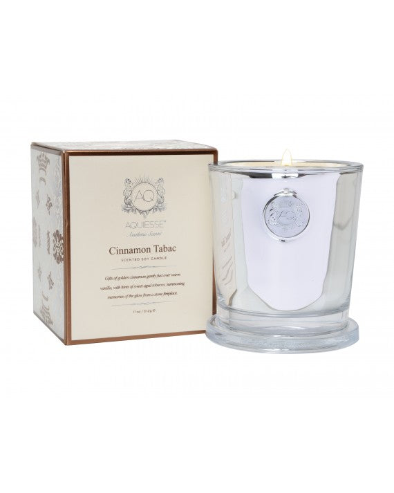 Aquiesse - CINNAMON TABAC~LARGE CANDLE IN GIFT BOX