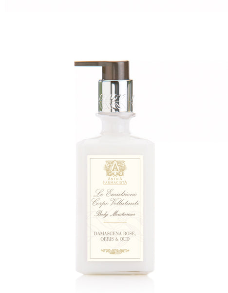 ANTICA FARMACISTA - 10 OZ BODY MOISTURIZER IN DAMASCENA ROSE, ORRIS & OUD