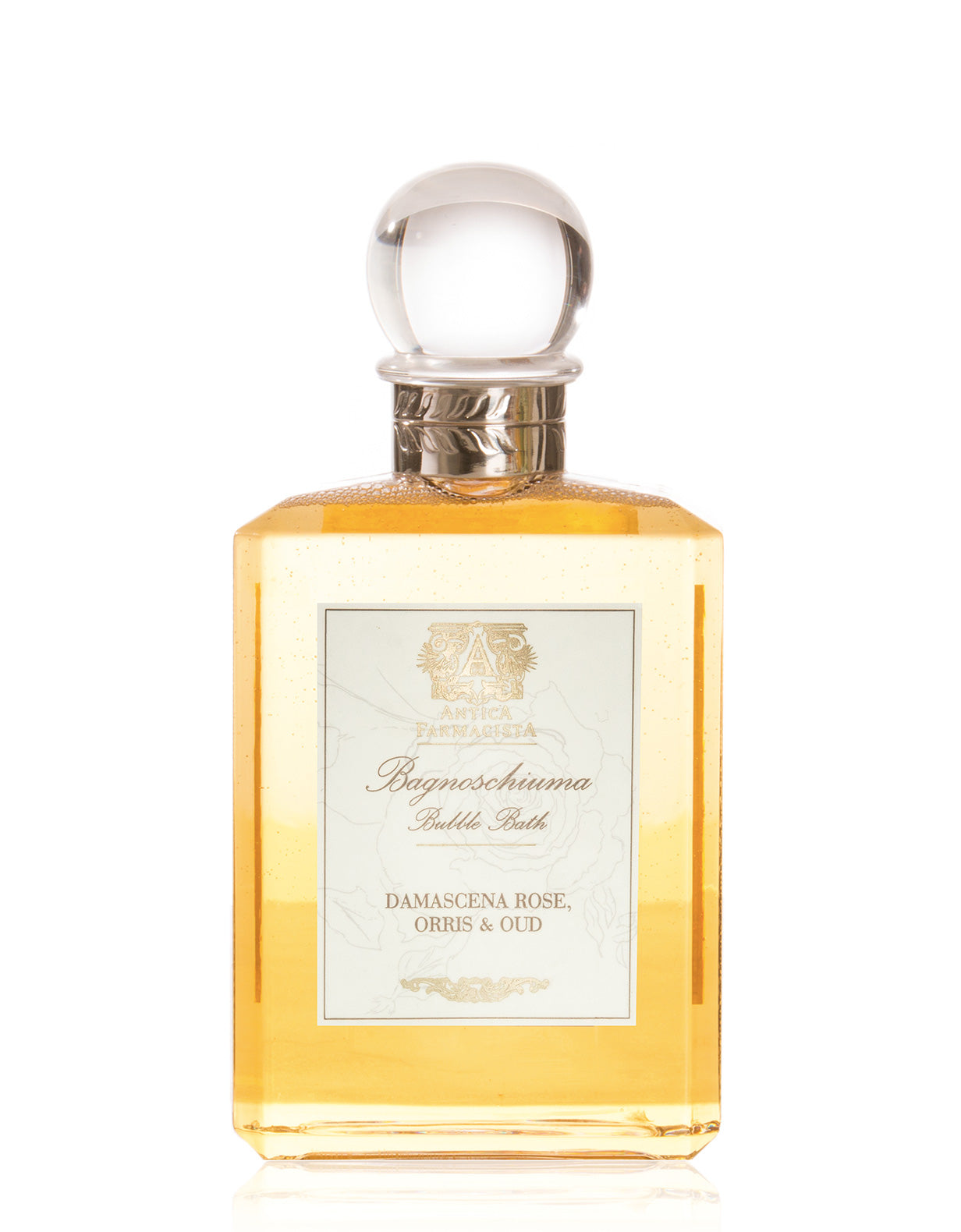 ANTICA FARMACISTA - 15.8 OZ BUBBLE BATH IN DAMASCENA ROSE, ORRIS & OUD
