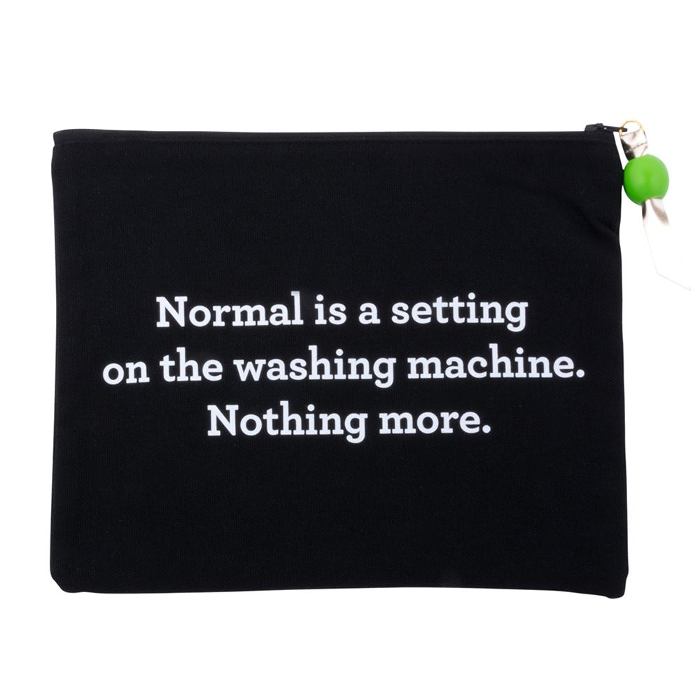 "MAINSTREET COLLECTION - ""Normal Setting"" Quote Cosmetic Pouch"