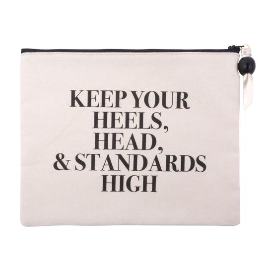 "MAINSTREET COLLECTION - ""Standards High"" Quote Cosmetic Pouch"