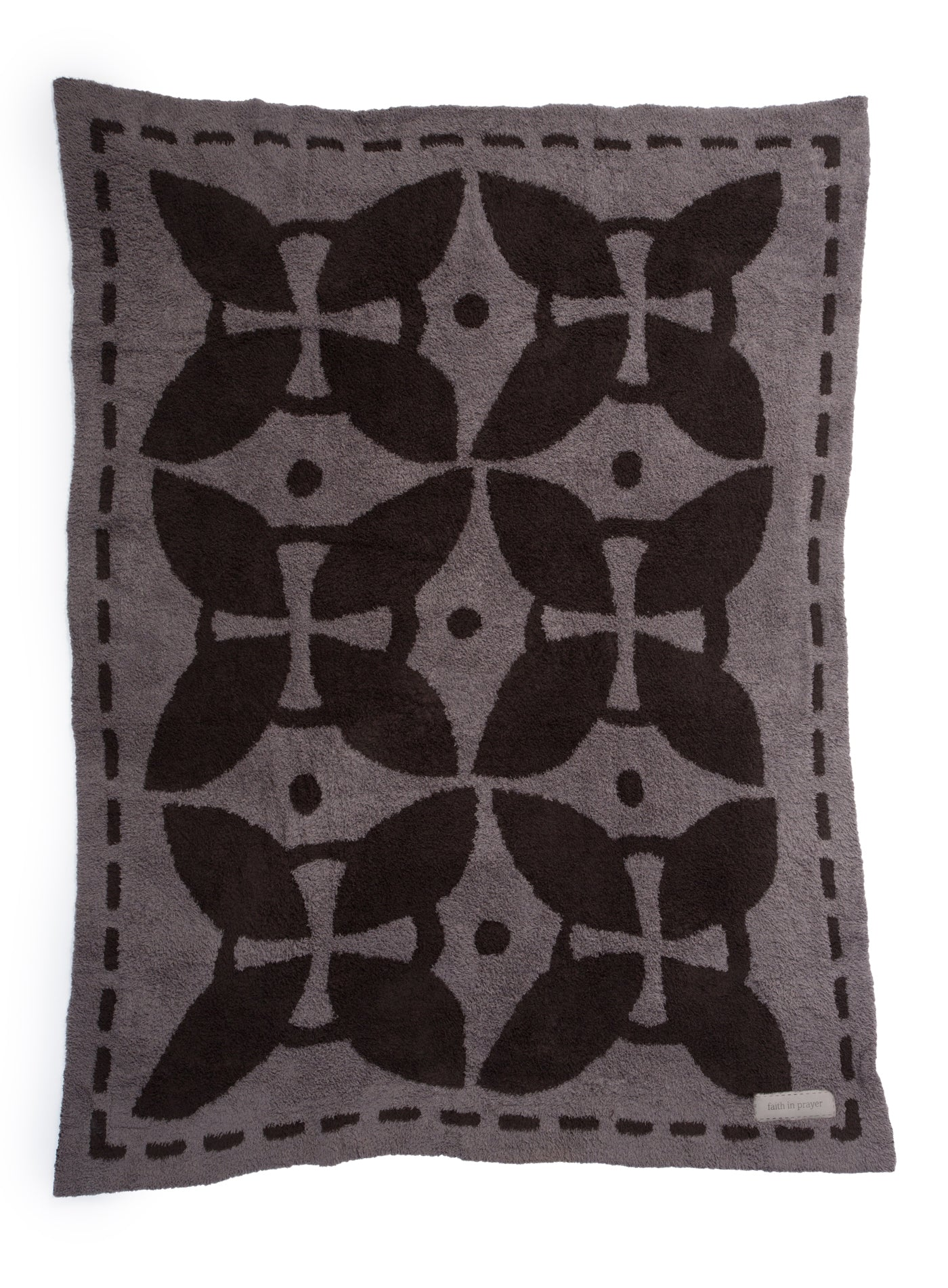 Barefoot Dreams - the COZYCHIC® COVERED IN PRAYER® (CHARCOAL / ESPRESSO / FAITH IN PRAYER)