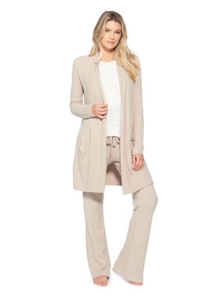 BAREFOOT DREAMS - COZYCHIC LITE ESSENTIAL LONG CARDIGAN IN SAND