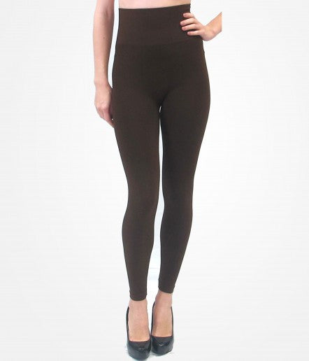 ELIETIAN High-Waisted Leggings-CHOCOLATE
