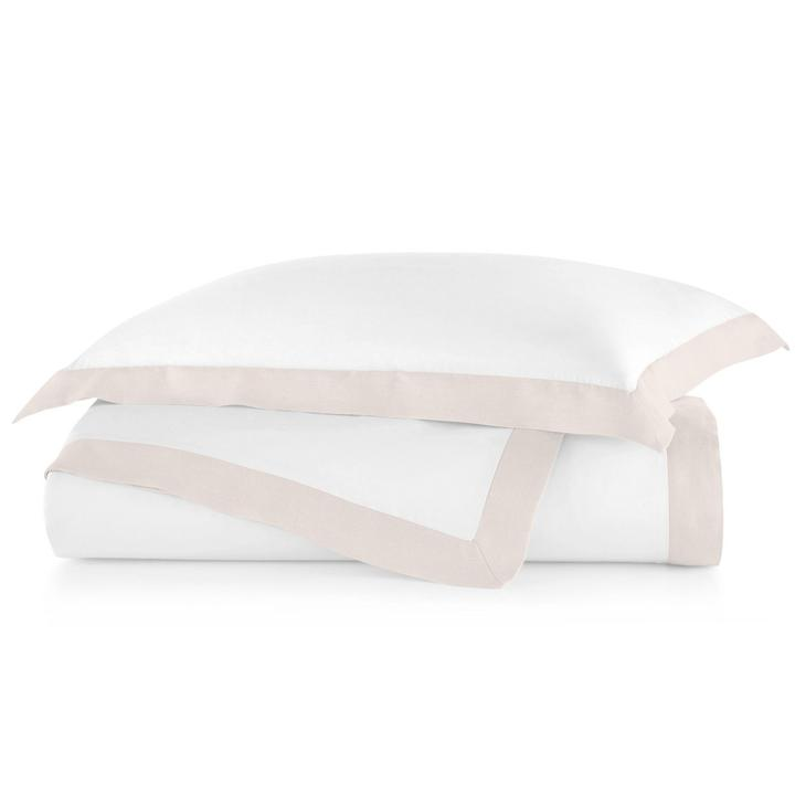 PEACOCK ALLEY MANDALAY LINEN CUFF DUVET COVER  BLUSH