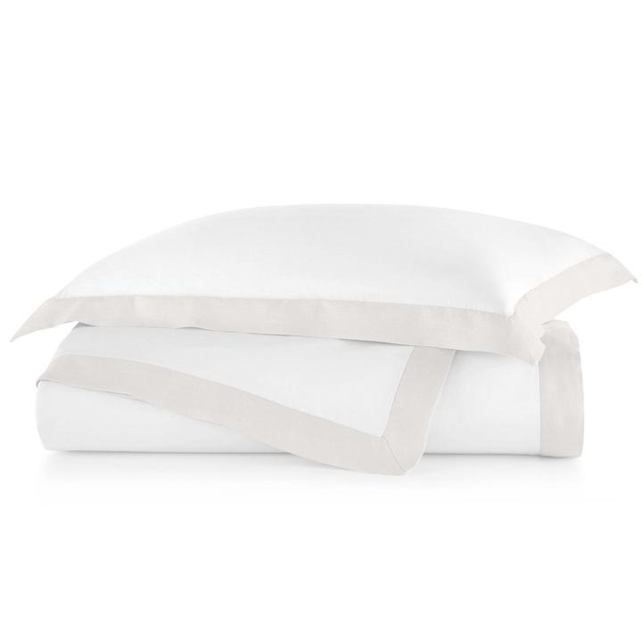 PEACOCK ALLEY MANDALAY LINEN CUFF DUVET COVER  PEARL