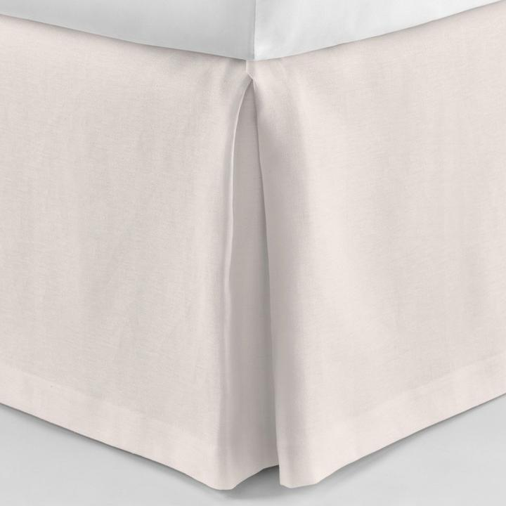 PEACOCK ALLEY MANDALAY LUXURY LINEN BED SKIRT  BLUSH