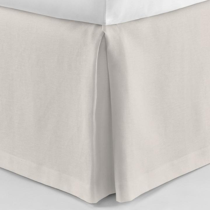PEACOCK ALLEY MANDALAY LUXURY LINEN BED SKIRT  PLATINUM