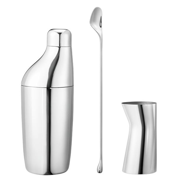 Georg Jensen - SKY SET - SHAKER, STIRRING SPOON AND JIGGER