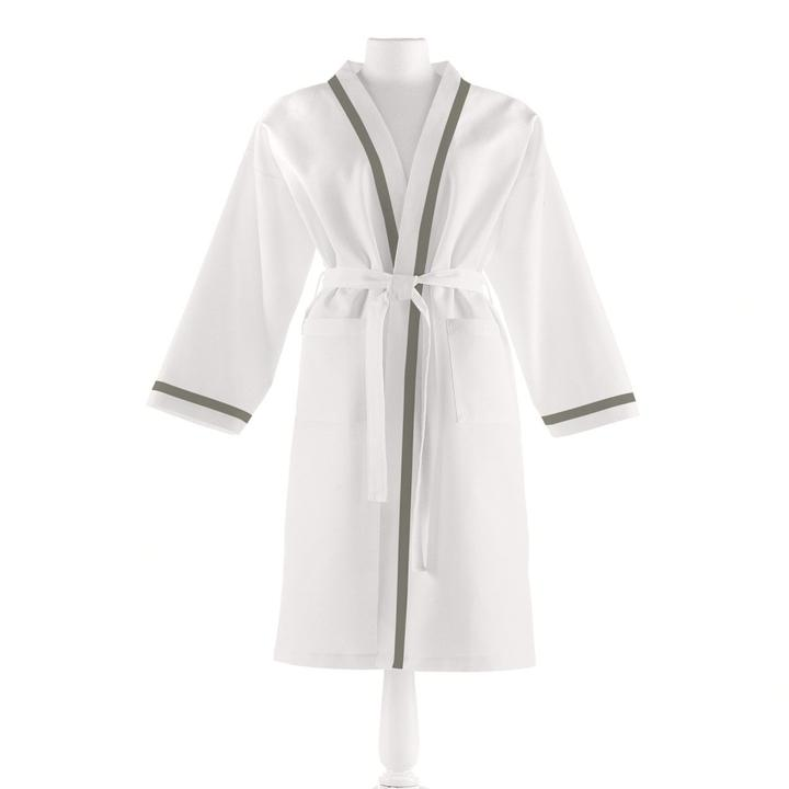 PEACOCK ALLEY PIQUE BATHROBE  PLATINUM