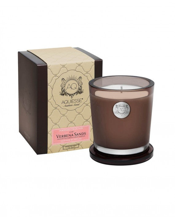 AQUIESSE CANDLE VERBENA SANDS ~LARGE SOY CANDLE/GIFT BOX