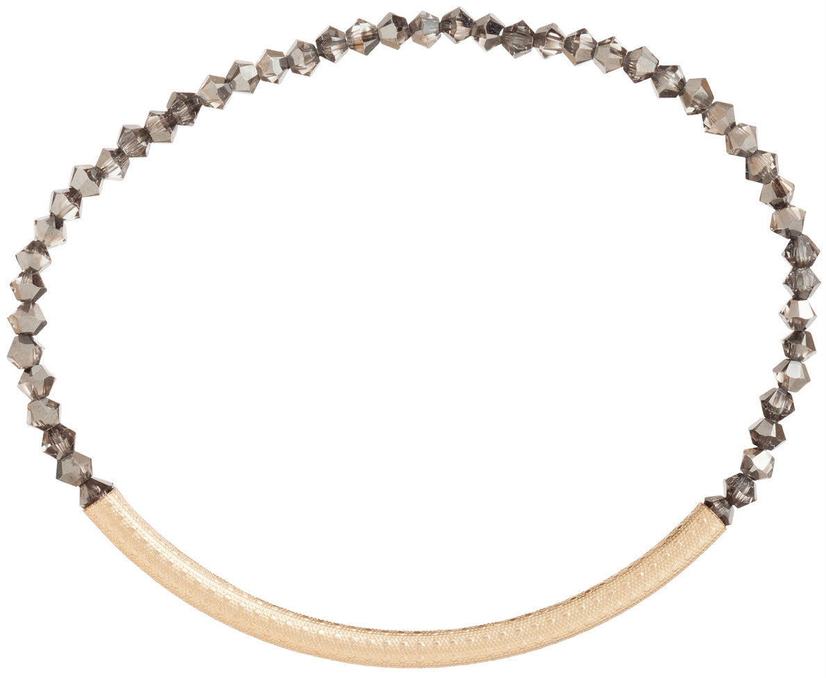 ENEWTON DESIGN - BLISS BAR TEXTURED BRACELET - CRYSTAL GRAY OPAL