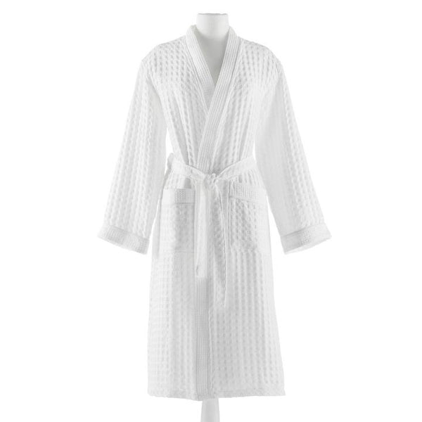 PEACOCK ALLEY WAFFLE ROBE  WHITE