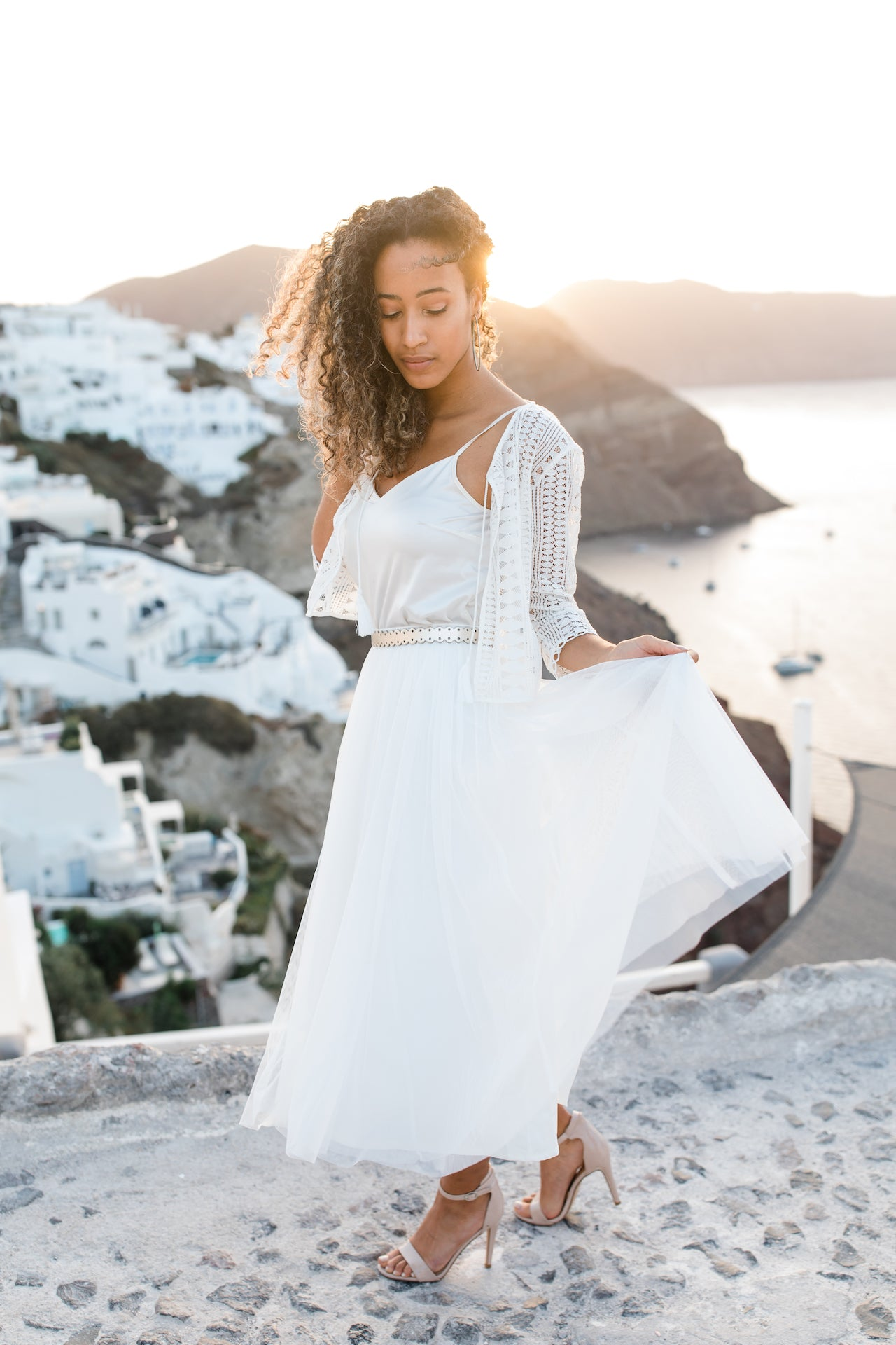 Santorini Wedding, Bride, Santorini, Destination Wedding, Greece
