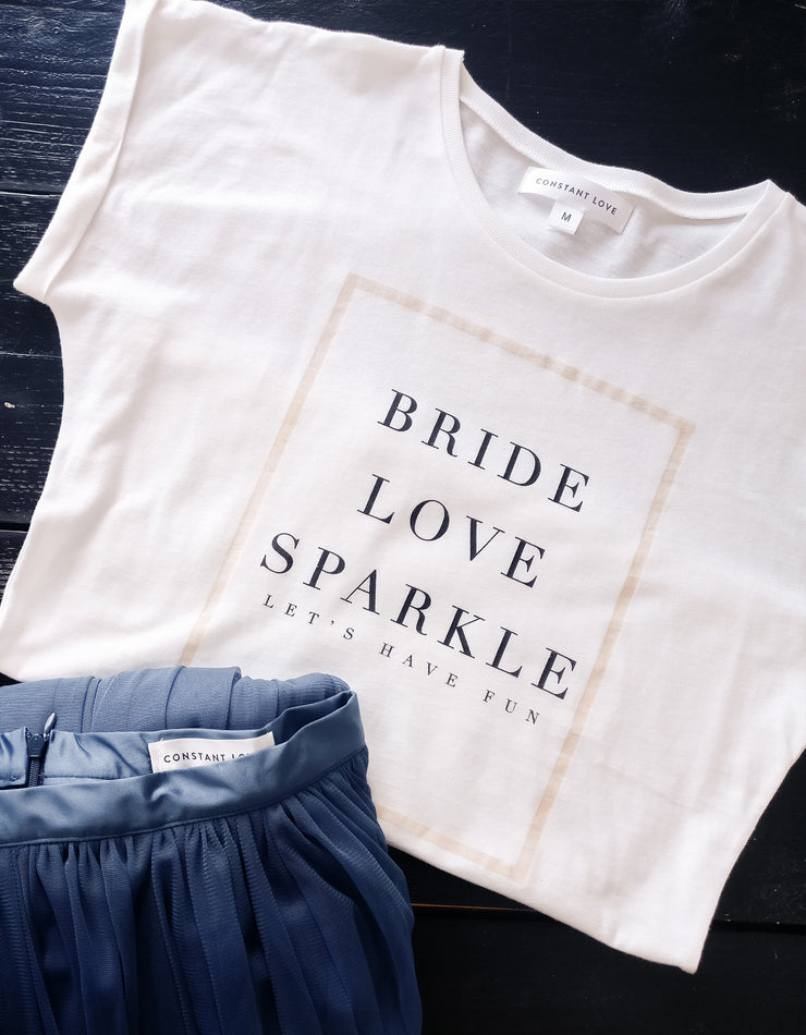 "Constant Love T-Shirt Braut ""bride love sparkle"""