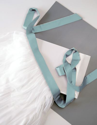 Constant Love Satinband Brautgürtel Dusty-Mint