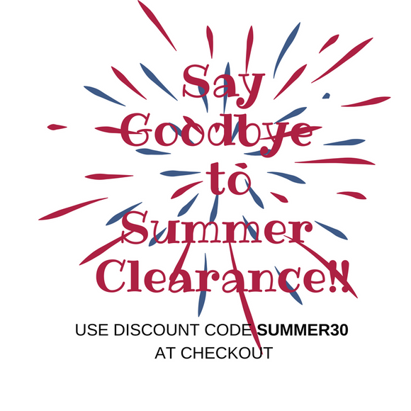 Say Goodbye to Summer Clearance