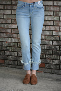 Zoey Cuffed Jeans Light Blue