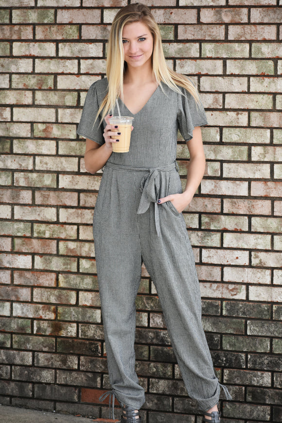 Rosetta Plaid Jumpsuit