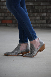 Focus Snake Print Booties