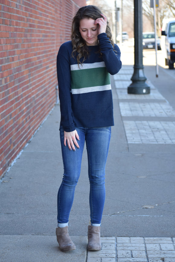 Timber Color Block Sweater