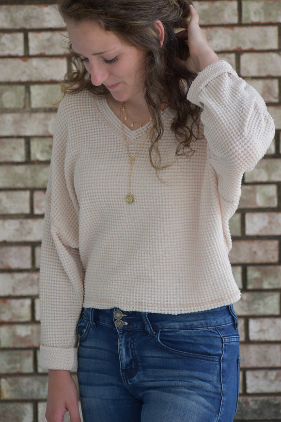 Tristen Waffle Knit Top