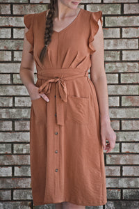 Morning Leaves Midi Dress