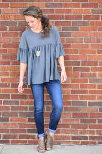 North Shore Ruffle Sleeve Top