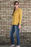 Mums In Bloom Striped Sweater