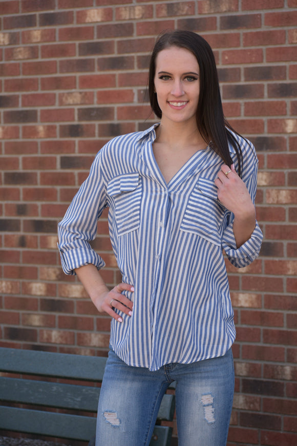 Chandler Striped Blouse