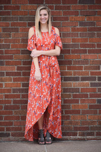 Isla Floral Wrap Maxi Dress