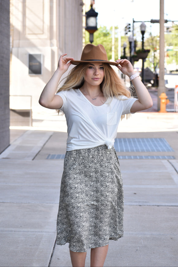 Tennessee Nights Printed Midi Skirt