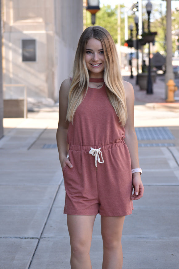 Charlotte Cut Out Tie Romper