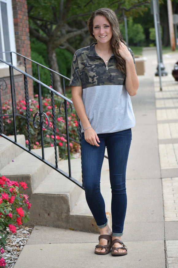 Hunting In Style Camo Top