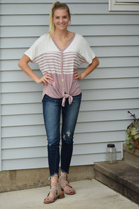 Acadia Striped Top