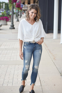 All Knotted Up V-Neck Top