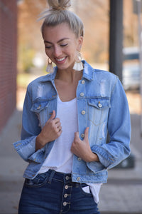 Ali Distressed Denim Jacket